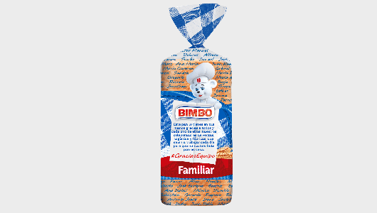 Bimbo cambia su packaging como forma de agradecimiento