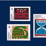 Colección de sellos contra el cambio climático.