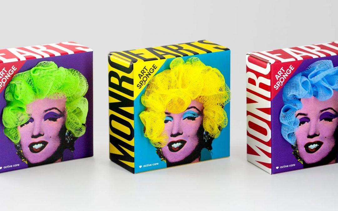 Un packaging de esponjas de baño de lo más Marilyn Monroe de Andy Warhol