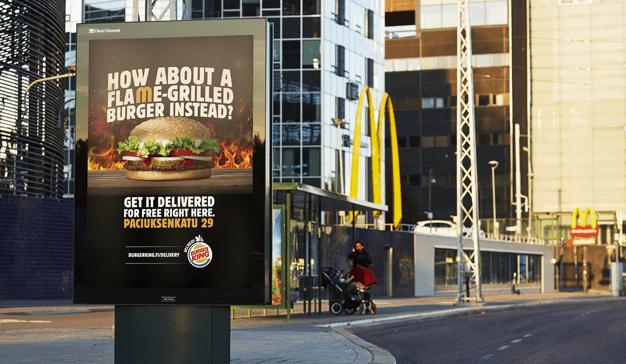 Burger King lanza una campaña contra su archienemigo McDonald´s