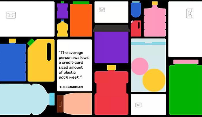Esta campaña ilustra la cantidad de plástico que consumimos cada semana sin ser conscientes